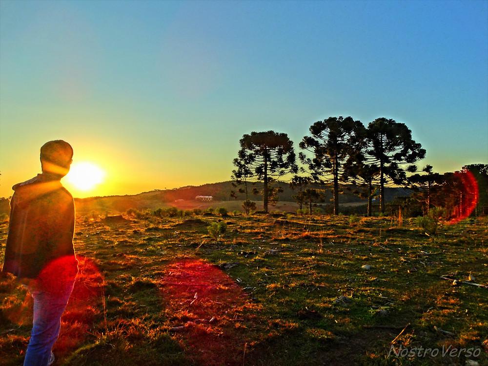 Pôr-do-sol em Cambará do Sul