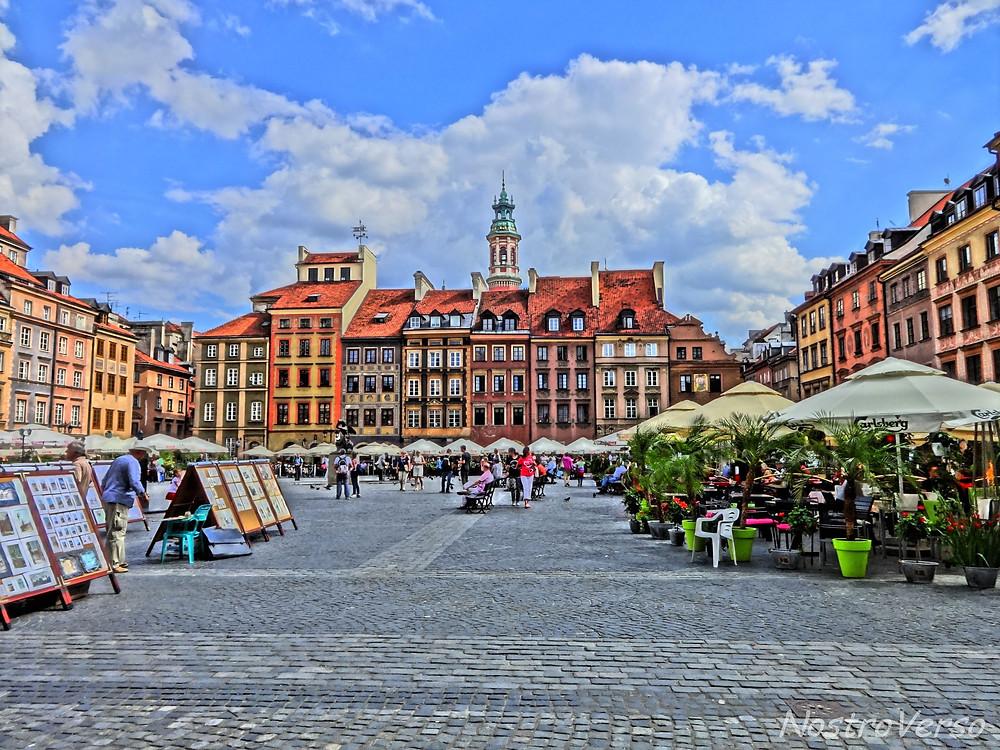 Praça da Cidade Velha em Varsóvia