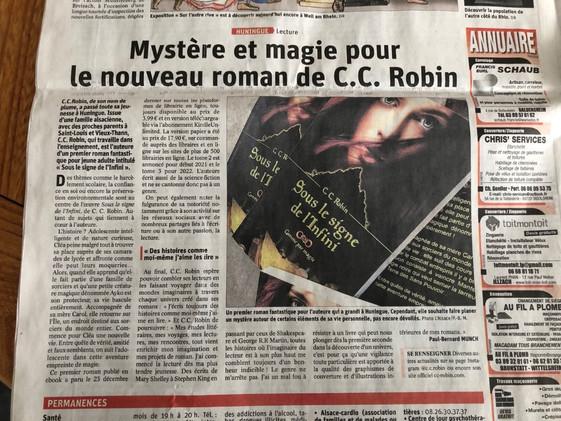 """Article """"L'Alsace"""""""