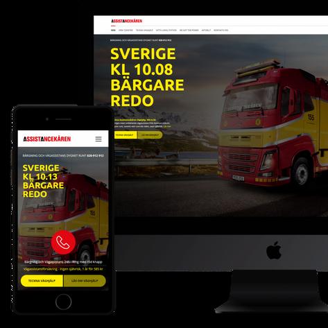 Webbplats och mobil