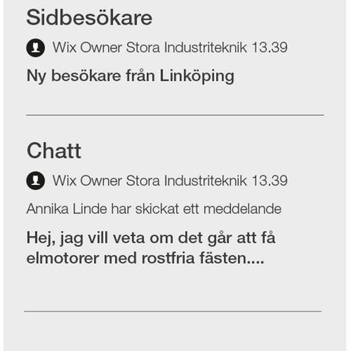 Besökare i appen