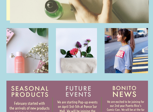 Bonito Newsletter Spring 2020