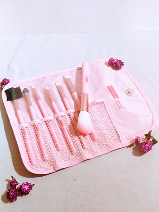 7 Piece Rose Gold Makeup Brush Set