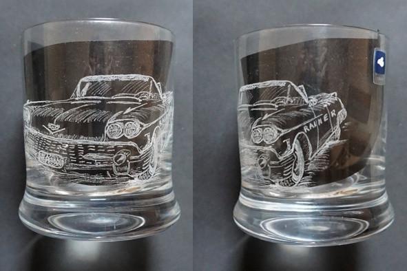 Cadillac auf einem Whisky Glass