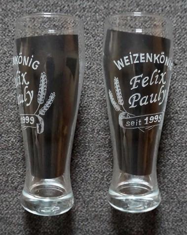 Weizenglas mit Ehre, Name und Datum - Gebutstagsgeschenk