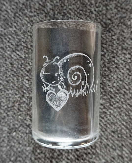 Childrens Glass Snail Name personalized Schnecke personalisiert Kinderglas