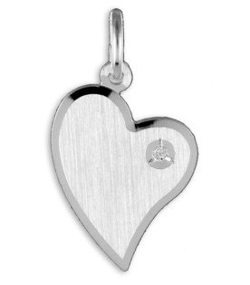 Heart Pendant Initials (+ chain)/ Herz Anhänger Zirkonia Initialen (+ Kette)