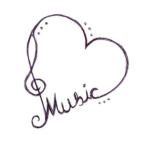 Love Music Clef Heart/ Herz Liebe Musik Notenschlüssel - Glass, Liquor, Tea, Mug