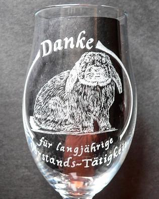 Kanninchen - Rabbit Engraved by Hand