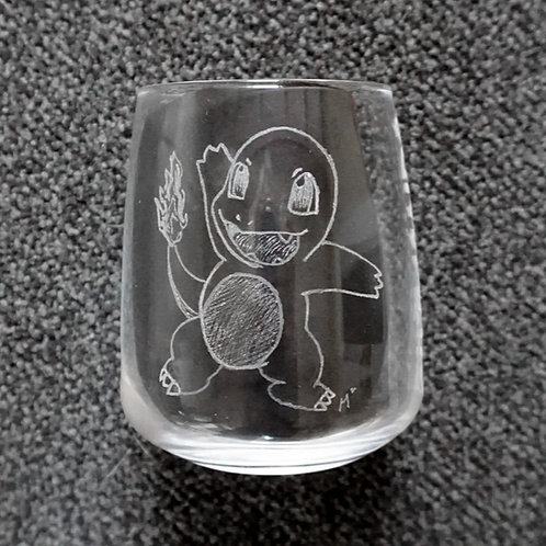 #004 Charmander Glumanda Hitokage ヒトカゲ Pokemon Glass 370ml