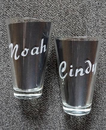 Open Glass 300ml personalizable Offenes Trinkglas personalisierbar