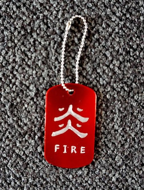 YuGiOh Symbol Dog Tag Kanji Rectangular