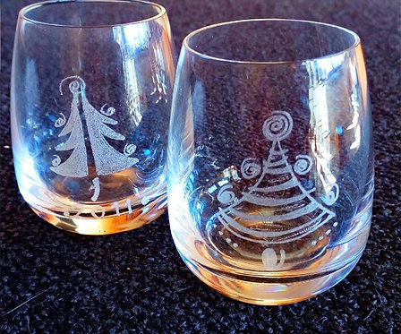 Liquor glass Schnapsglas Christmastree Weihnachtsbaum 100ml Tree Winter