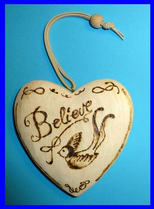 Wooden Heart, Believe and Bird Swallow Schwalbe Old School