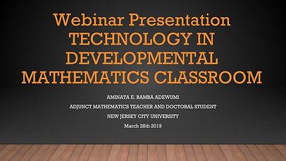 Technology in Developmental Math - Webin