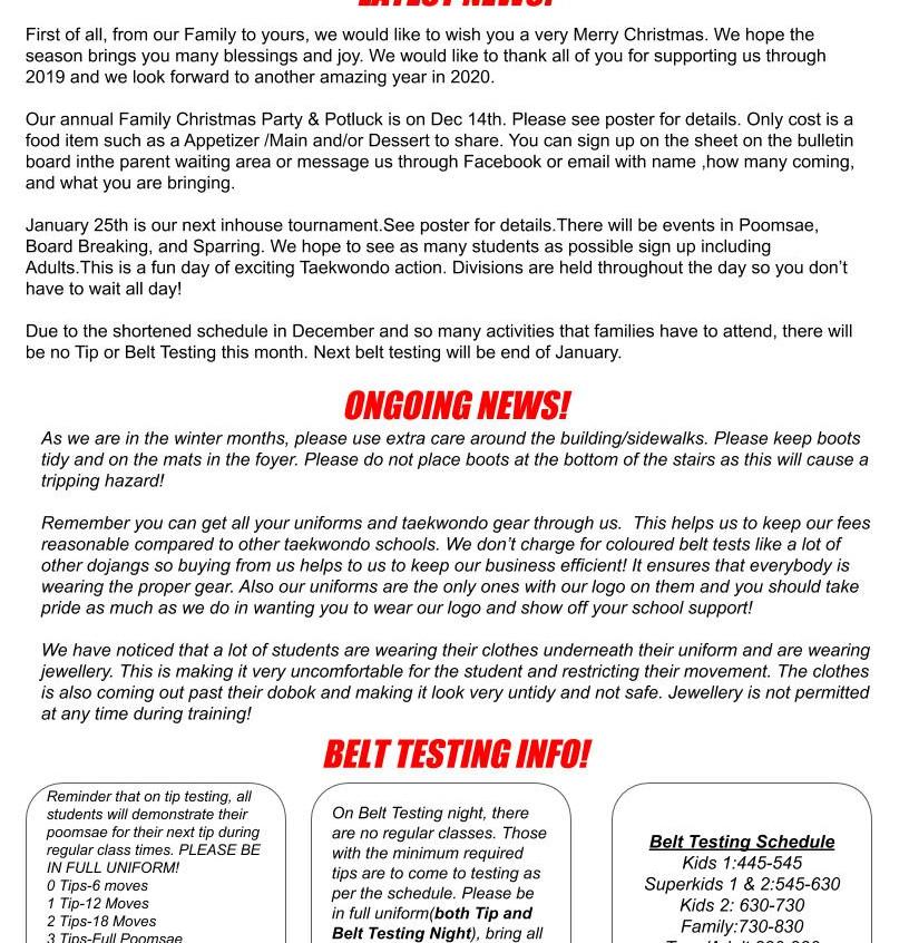 Newsletter Dec 2