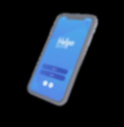 Screen design of the studio's helpo application
