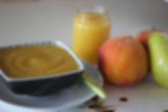 6 aylık bebekler için ek gıda  pişmiş meyve potpurisi