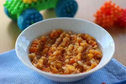 6 aylık bebekler için ek gıda turuncu pirinç maması