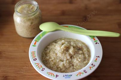 8 aylık bebekler için ek gıda fasulyeli pirinç püresi