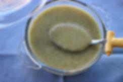 8 aylık bebekler için ek gıda kremalı brkoli çorbası