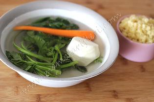 8 aylık bebekler için ek gıda Sebze Püreli Makarna