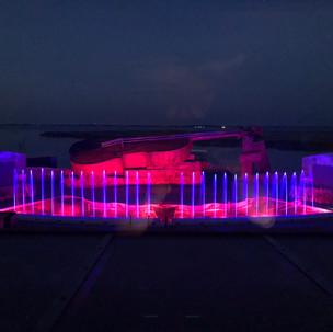 Licht- und Wassershow