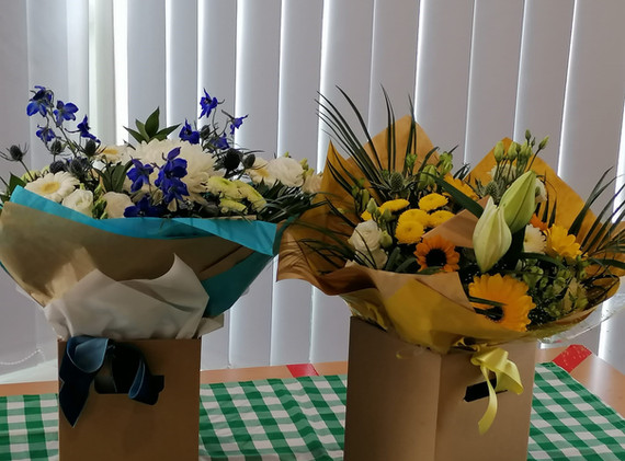 Flowers from Eastmoor Community Project to the Vaccination Centre
