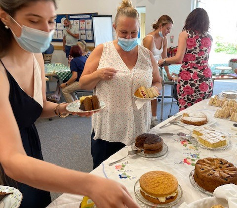 Afternoon tea surprise event by the Vaccination Centre