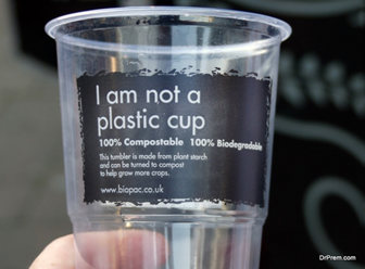 Biodegradable plastic cup