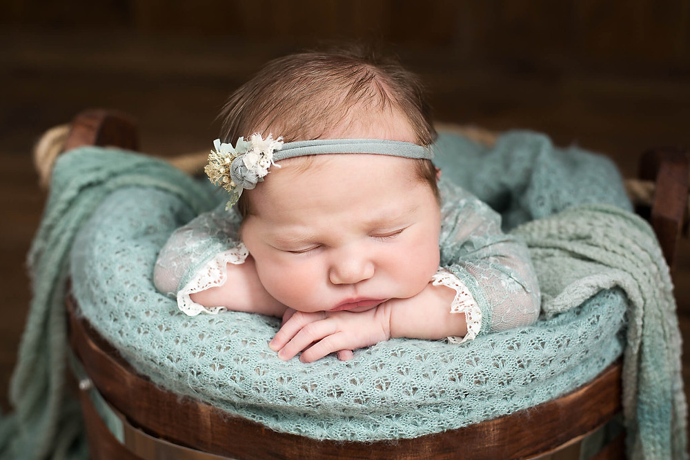Baby Girl Fast Asleep Newborn Photography Sheffield Rotherham