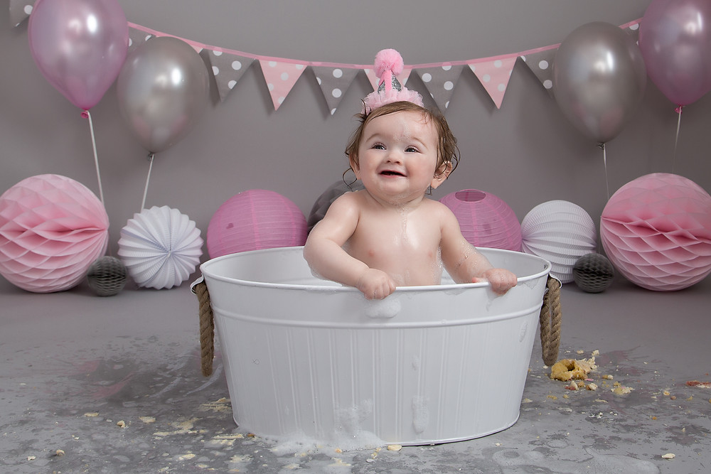 having the best fun ever at my cake smash and splash session