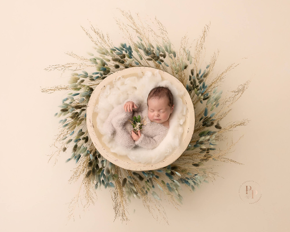 Sweet Newborn Baby Girl Captured By Petite Portraits Photography