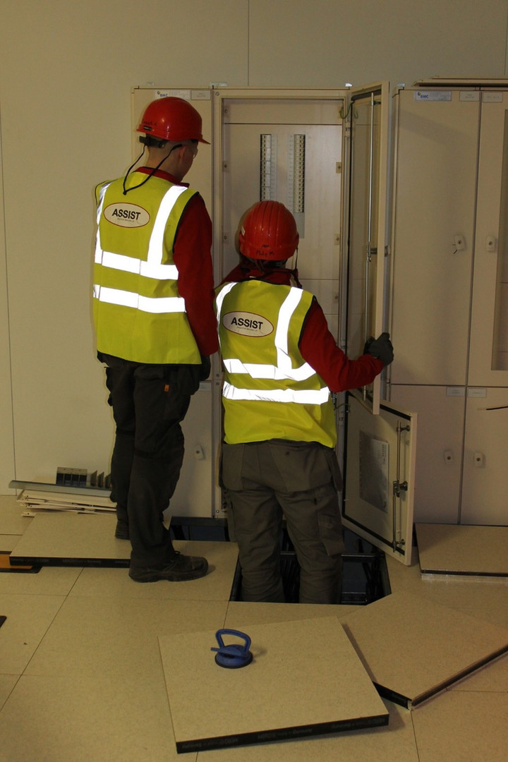 Distribution Boards Being Commissioned