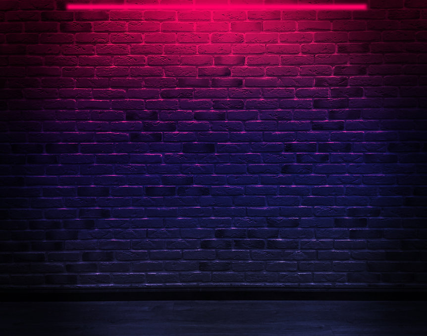 Brick wall, background, neon light.jpg