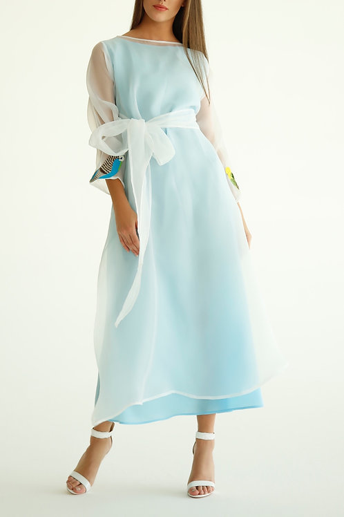 Layered Front-tie Dress