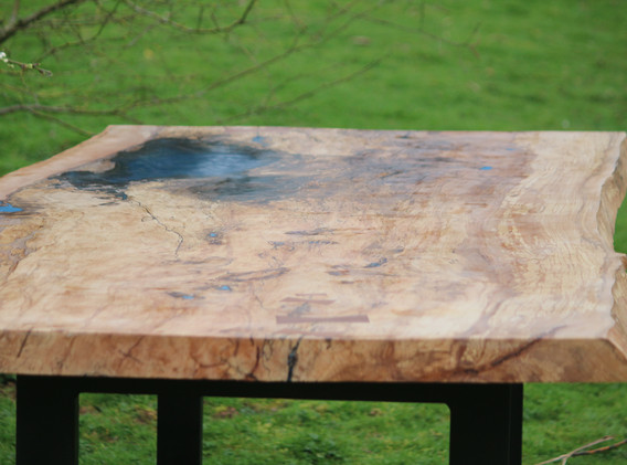 SPALTED BEECH RESIN TABLE