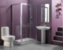 comfortable-ultramodern-purple-bathroom-