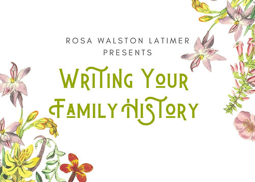 Banner for Writing your Family History .