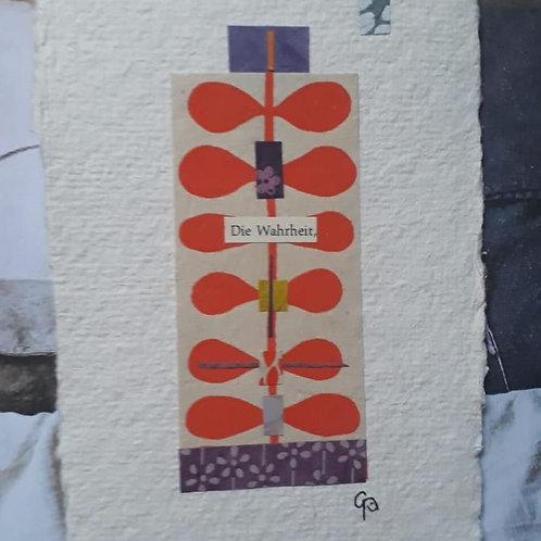 """Collage """"Die Wahrheit"""" - 10 x 15 cm"""