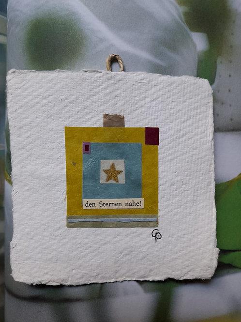 "Collage ""den Sternen nahe!"" 10x10 cm"