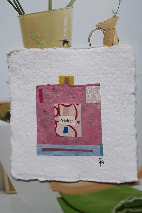 """Collage """"Zeichen""""  - 10 x 10 cm"""