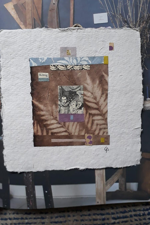 "Collage ""König""  - 20 x 20 cm"
