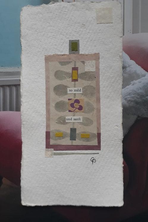 """Collage """"so mild und sanft"""" - 10 x 15 cm"""
