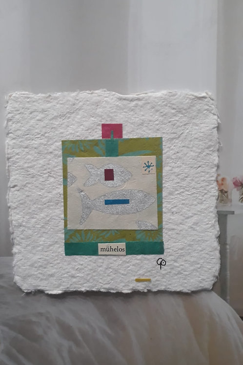 "Collage ""mühelos""  - 10 x 10 cm"