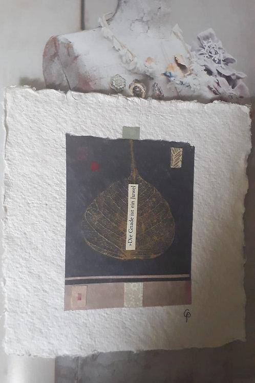 """Collage """"Die Gnade ist ein Juwel""""  - 20 x 20 cm"""