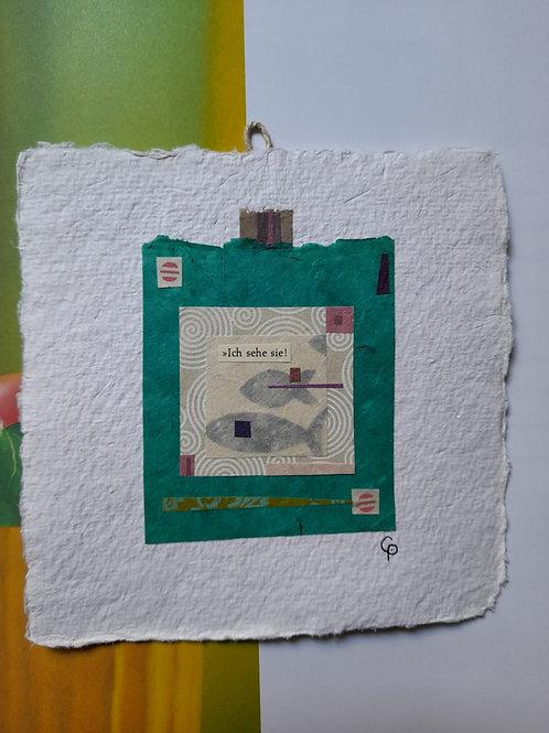 """Collage """"Ich sehe sie!""""  - 20 x 20 cm"""