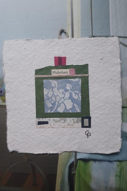 """Collage """"Wahrheit""""  - 10 x 10 cm"""