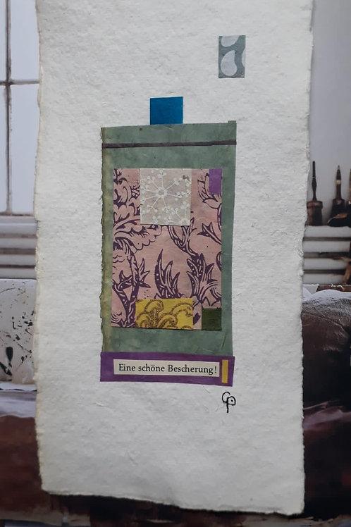 """Collage """"Eine schöne Bescherung"""" - 10 x 15 cm"""