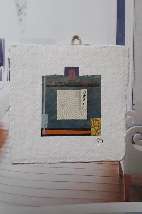 """Collage """"Gehen wir""""  - 10 x 10 cm"""